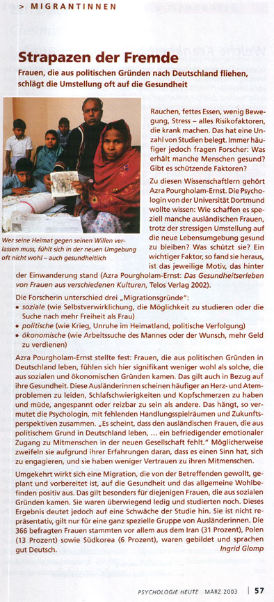 Rezension des Buches von Azra Pourgholam-Ernst in PH 03/2003